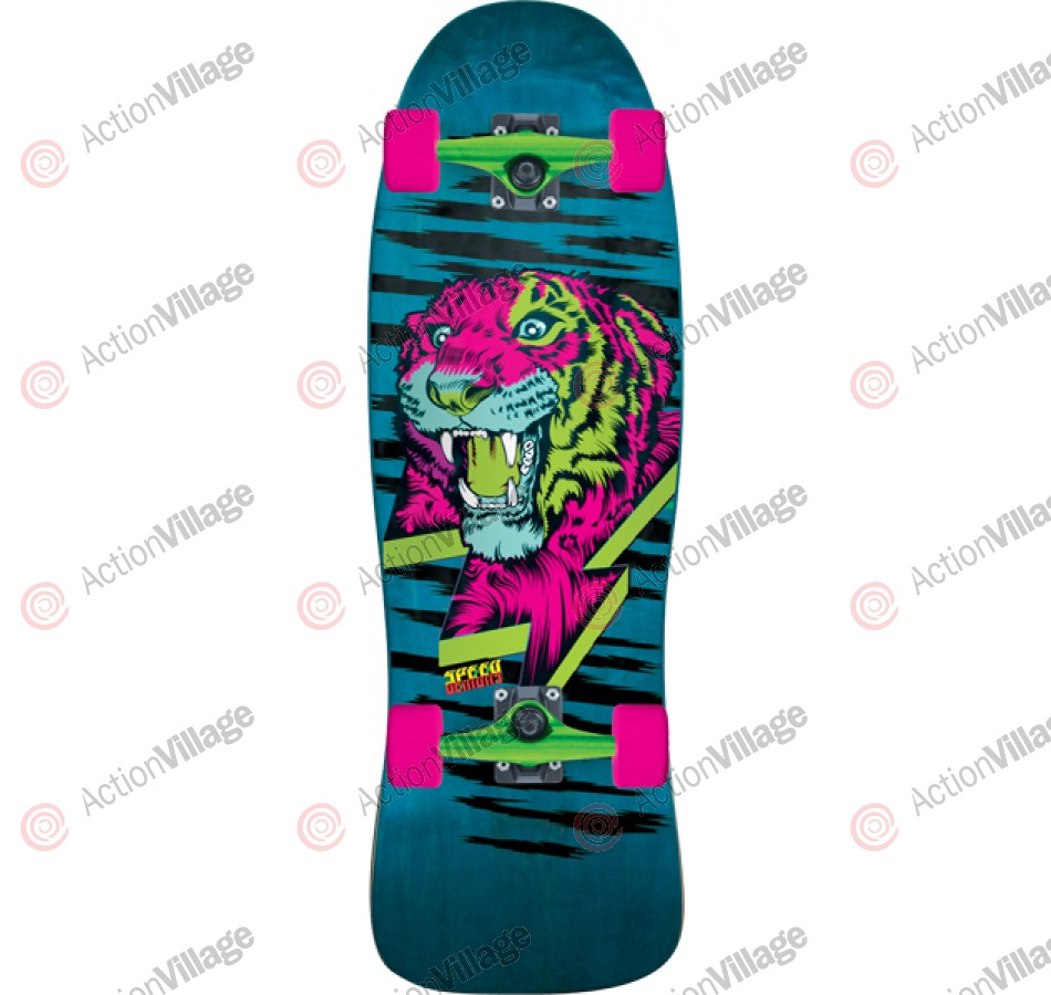 Speed Demons Kool Kat Pool Board - Teal/Pink - 31 - Complete Skateboard