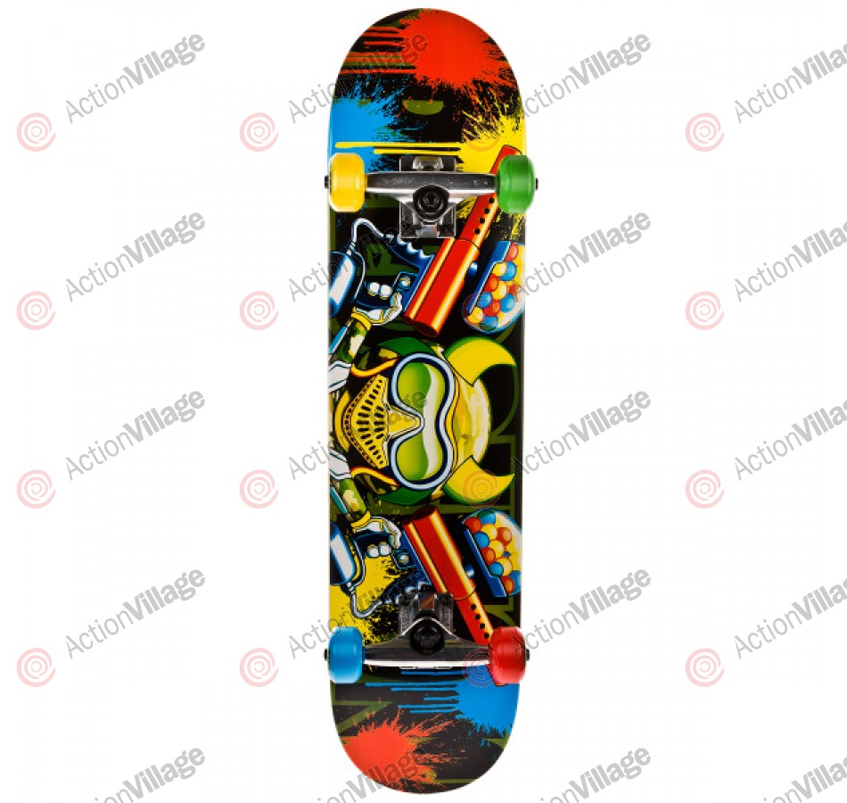 Speed Demons Paintball V2.0 - Black/Multi - 7.6 - Complete Skateboard