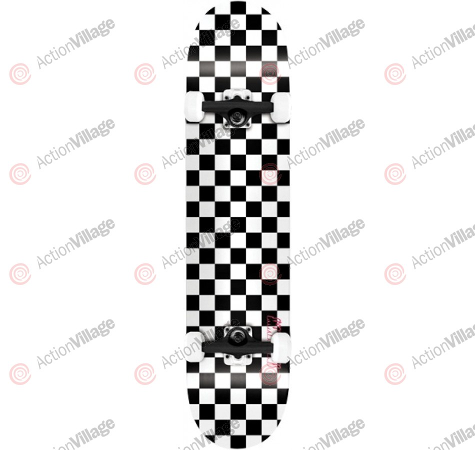 Speed Demons Checkerboard PP - Black/White - 8.0 - Complete Skateboard