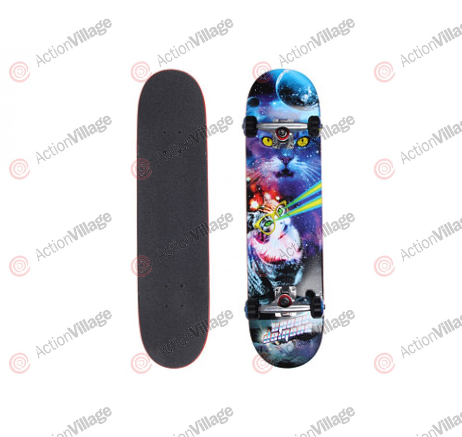 Speed Demons Meow Walker - Blue/Purple - 7.6 - Complete Skateboard