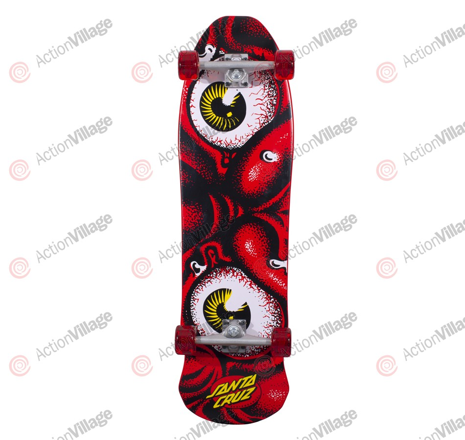 Santa Cruz Monster Rob Red Cruzer 10.7in x 36.3in - Complete Skateboard