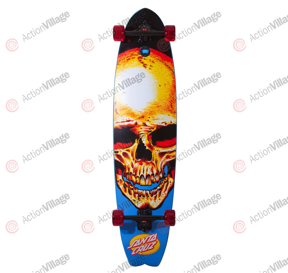 Santa Cruz Dead Pool Shark Cruzer 10.3725in x 42in - Complete Skateboard