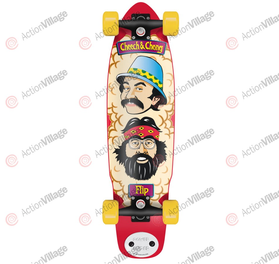 Flip Cheech and Chong Shred Sled Cruzer - 9.3in x 36in - Complete Skateboard