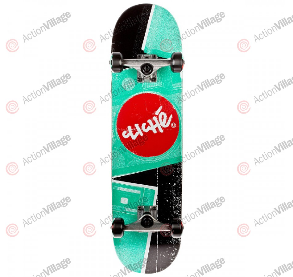 Cliche Camera - Red/Green - 7.9 - Complete Skateboard