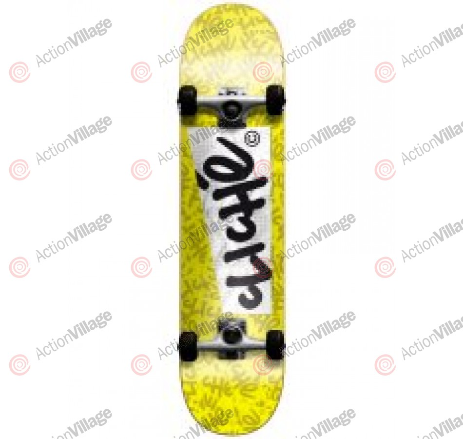 Cliche Paper - Yellow/Black - 7.5 - Complete Skateboard