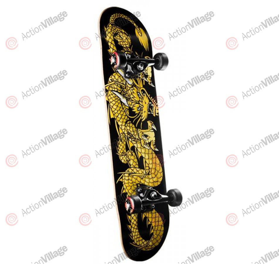 Powell Golden Dragon - Striking Dragon - 7.3 - Complete Skateboard