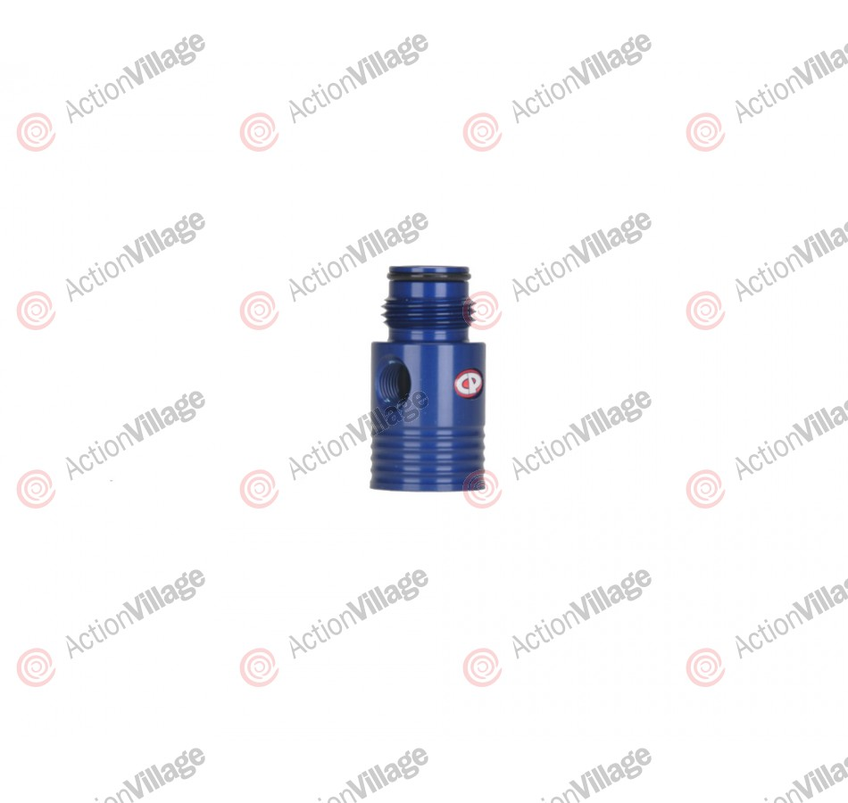 Custom Products Inline Regulator Gauge Port Adapter - Blue