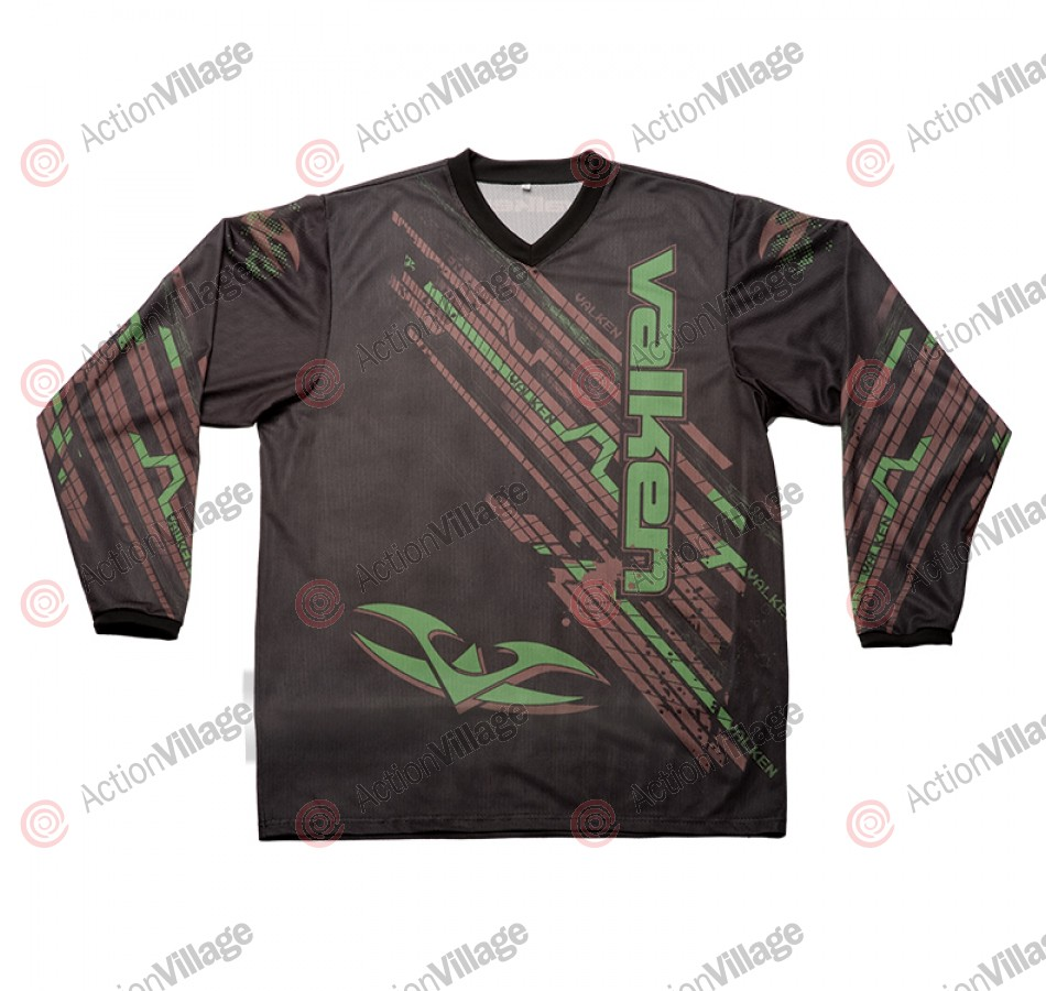 2011 Valken Fate Paintball Jersey - Olive