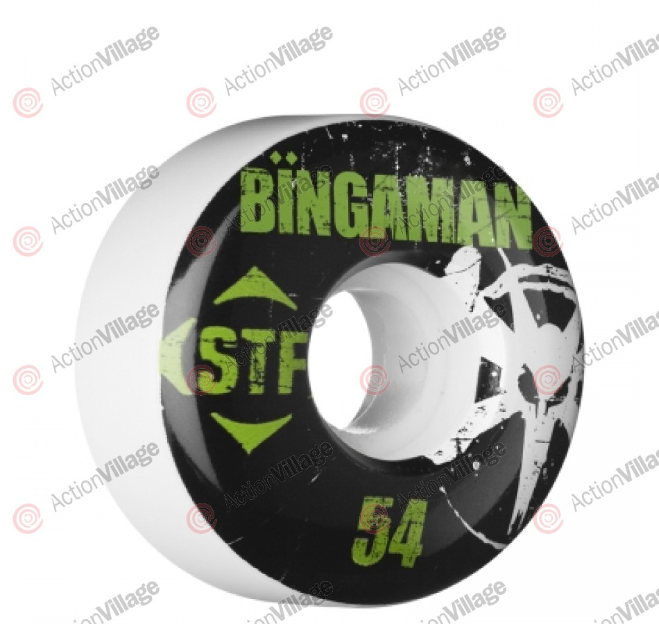 Bones Street Tech Formula Bingaman Rocker - 54mm - White - Skateboard Wheels