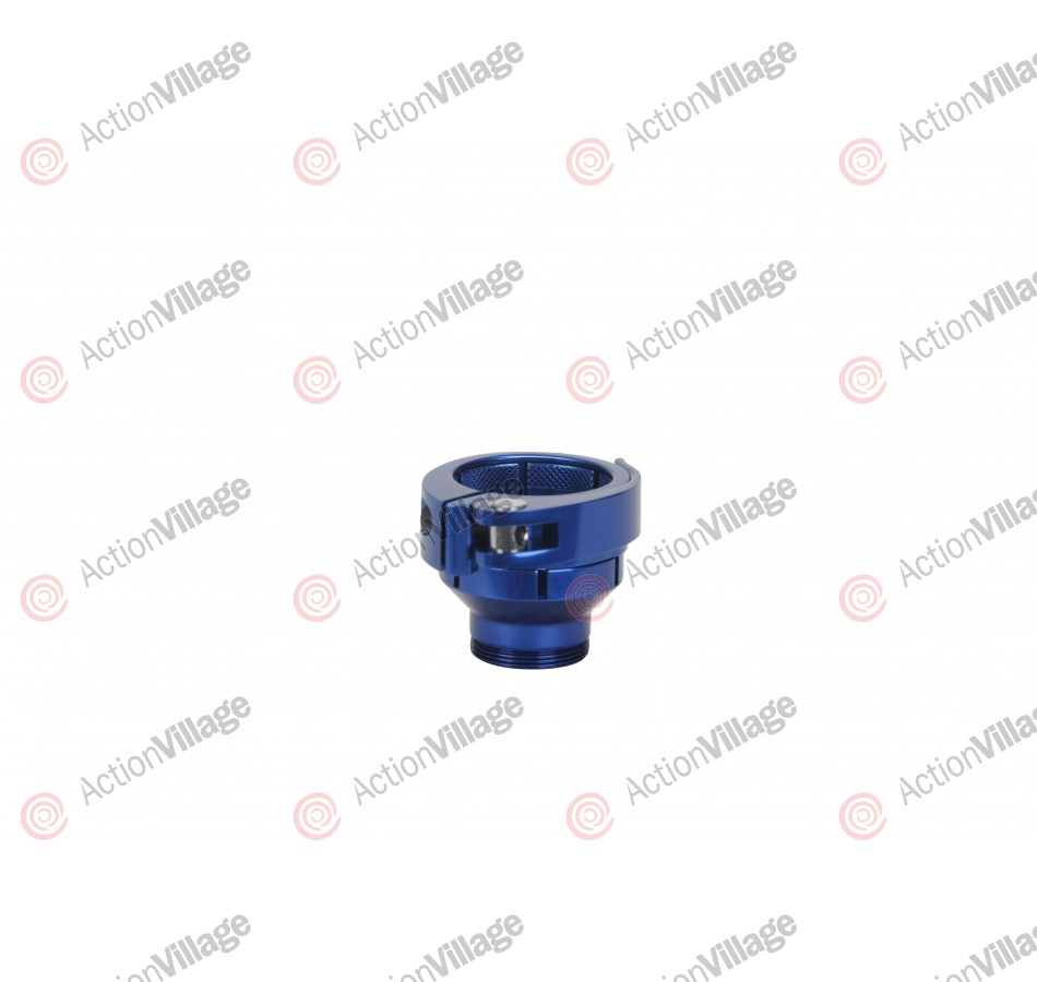 Warrior Ion G Lock Clamping Feed Neck Low Rise - Blue