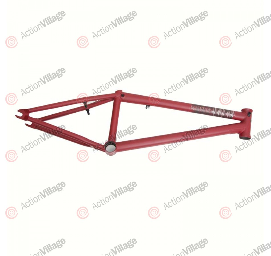 Premium Products Deathtrap - 20.5 Inch - Flat Red - BMX Bike Frame - Blemished