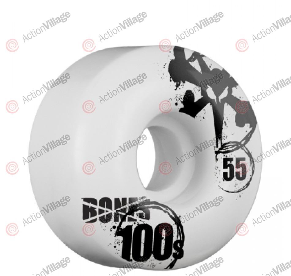 Bones O.G. Formula 100 V4 - 55mm - White - Skateboard Wheels