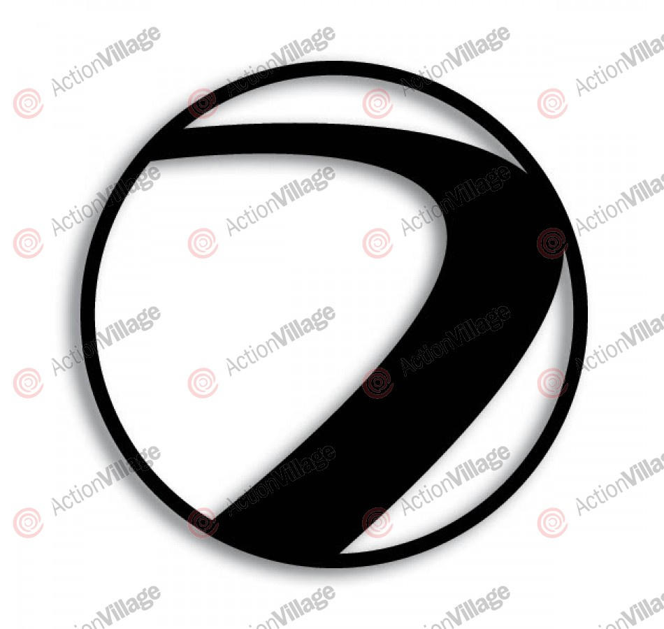 Dye Paintball Sticker Small Logo - Black