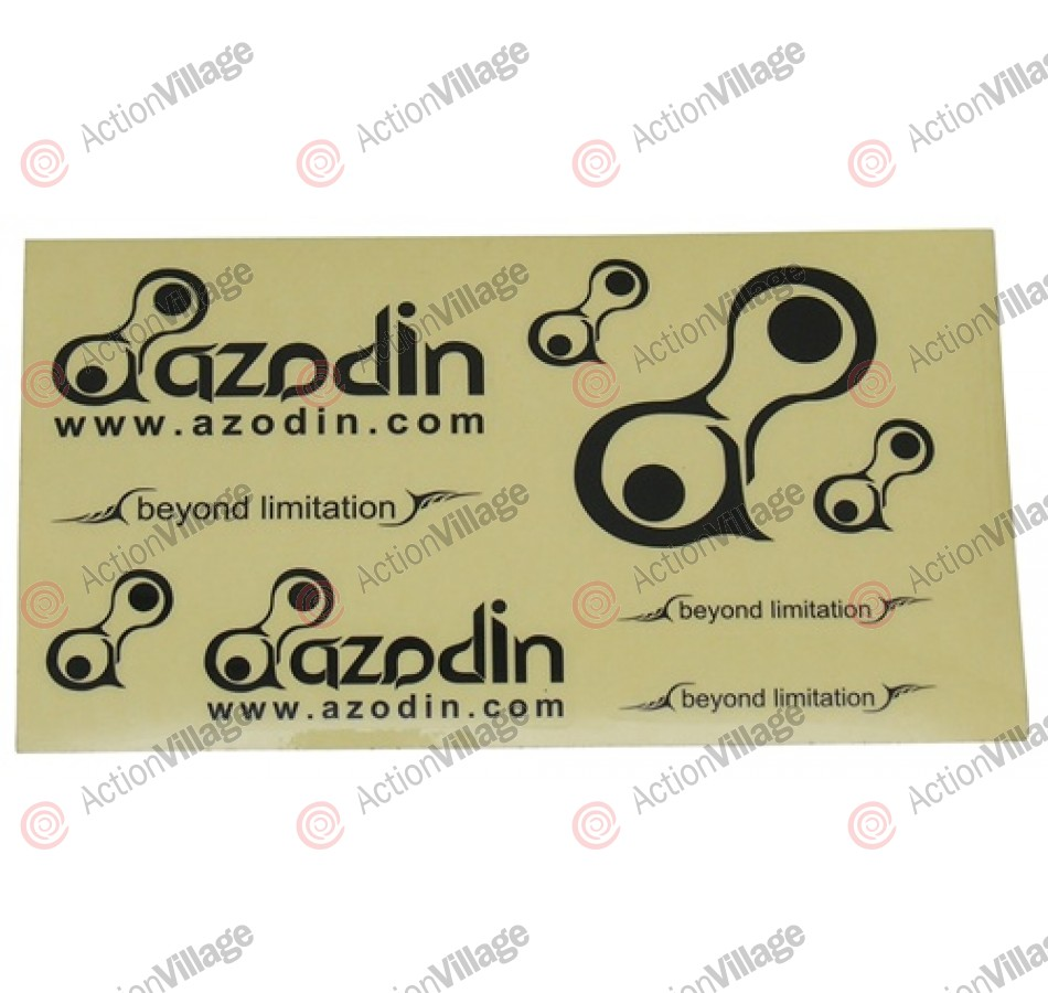 Azodin Paintball Sticker Sheet - Black