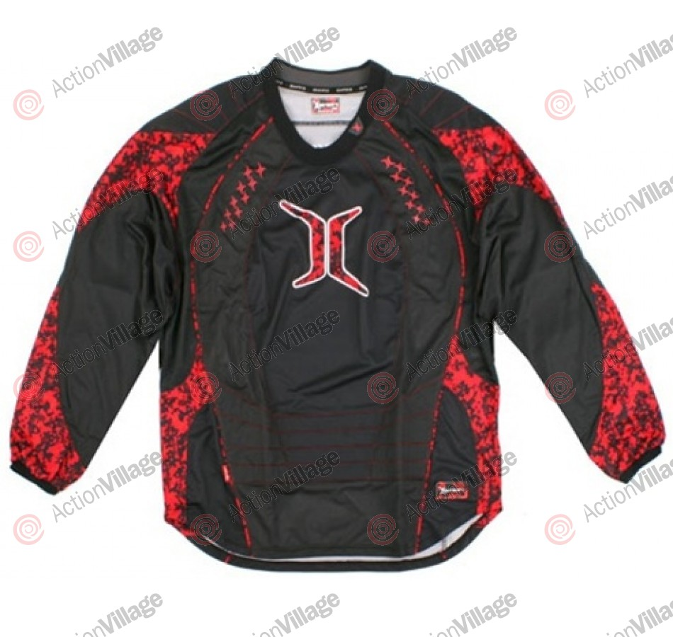 Empire 2008 08 Invert SE Paintball Jersey - Red Digi Camo