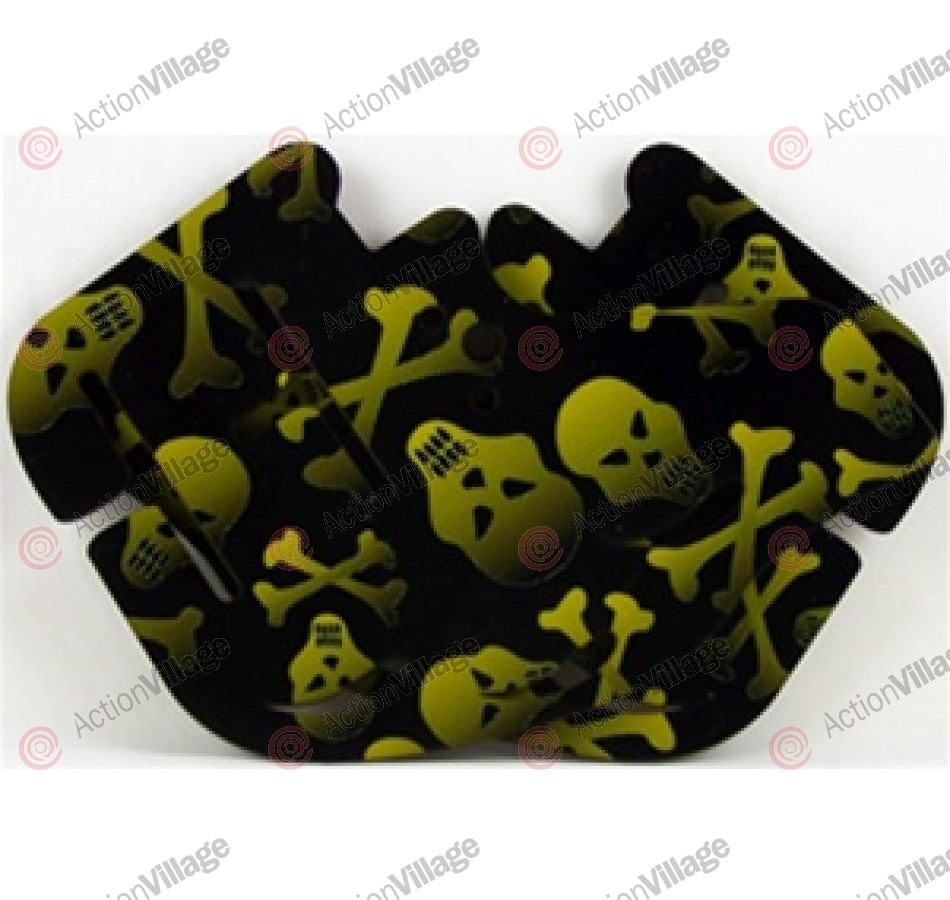 Stinger Paintball Designs Custom Soft Ears - Skulls 1 - Olive/Black