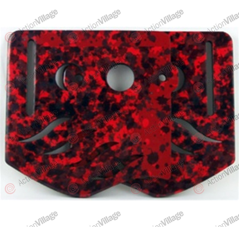 Stinger Paintball Designs Custom Soft Ears - Spot Camo - Red