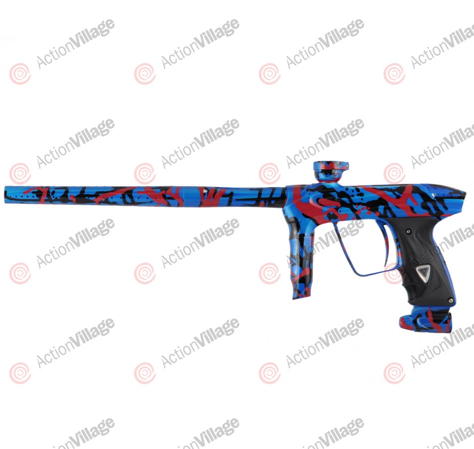 DLX Luxe 2.0 Paintball Gun - Pearl Blue/Black/Red Splash