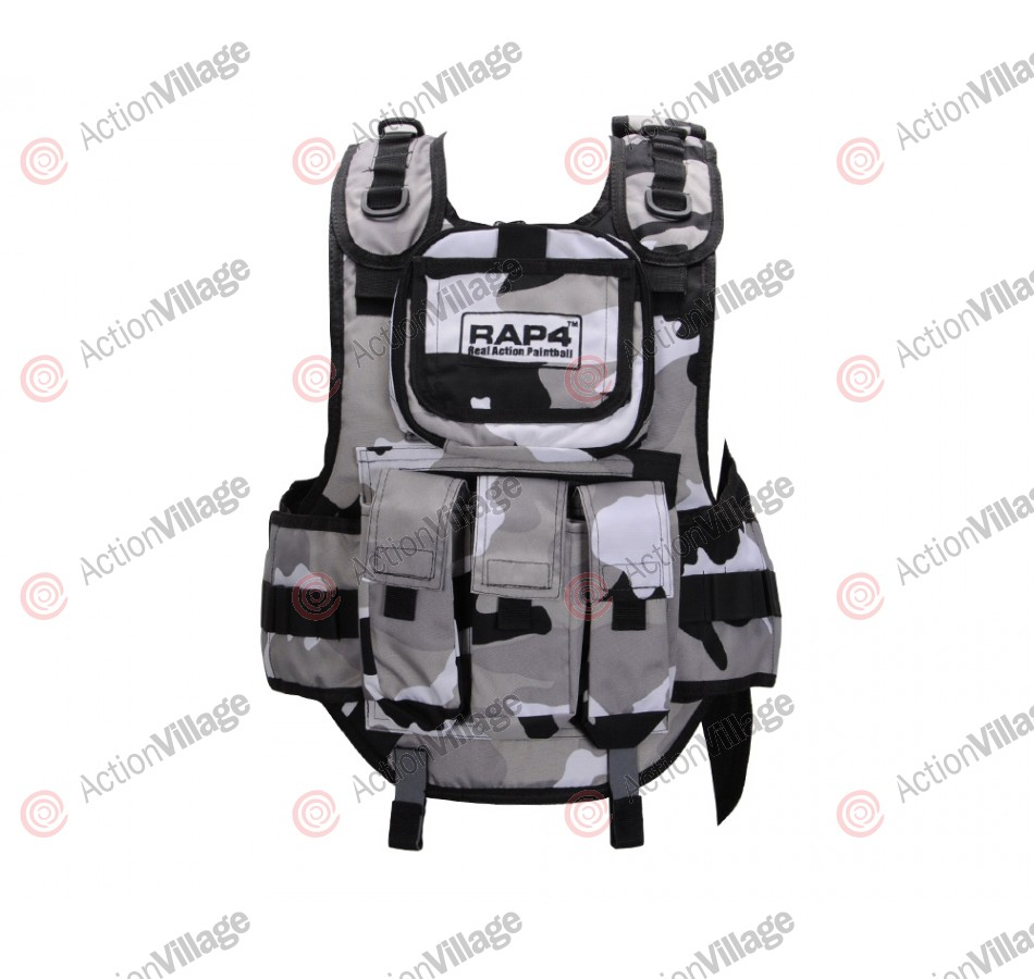 RAP4 Tactical Body Armor Paintball Vest - Urban Street Camo