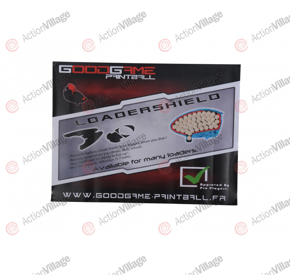 Good Game Paintball Loader Shield Poster