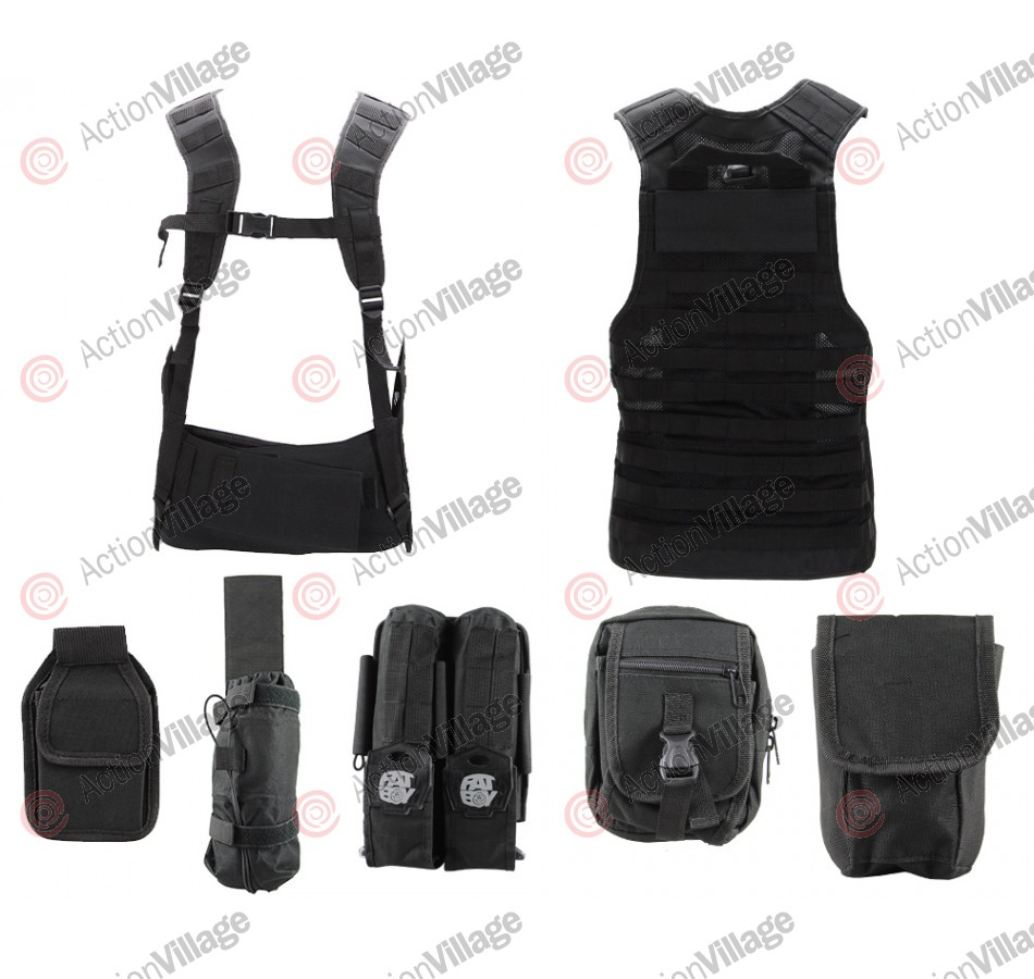 Angel Fat Boy Molle Vest - Black