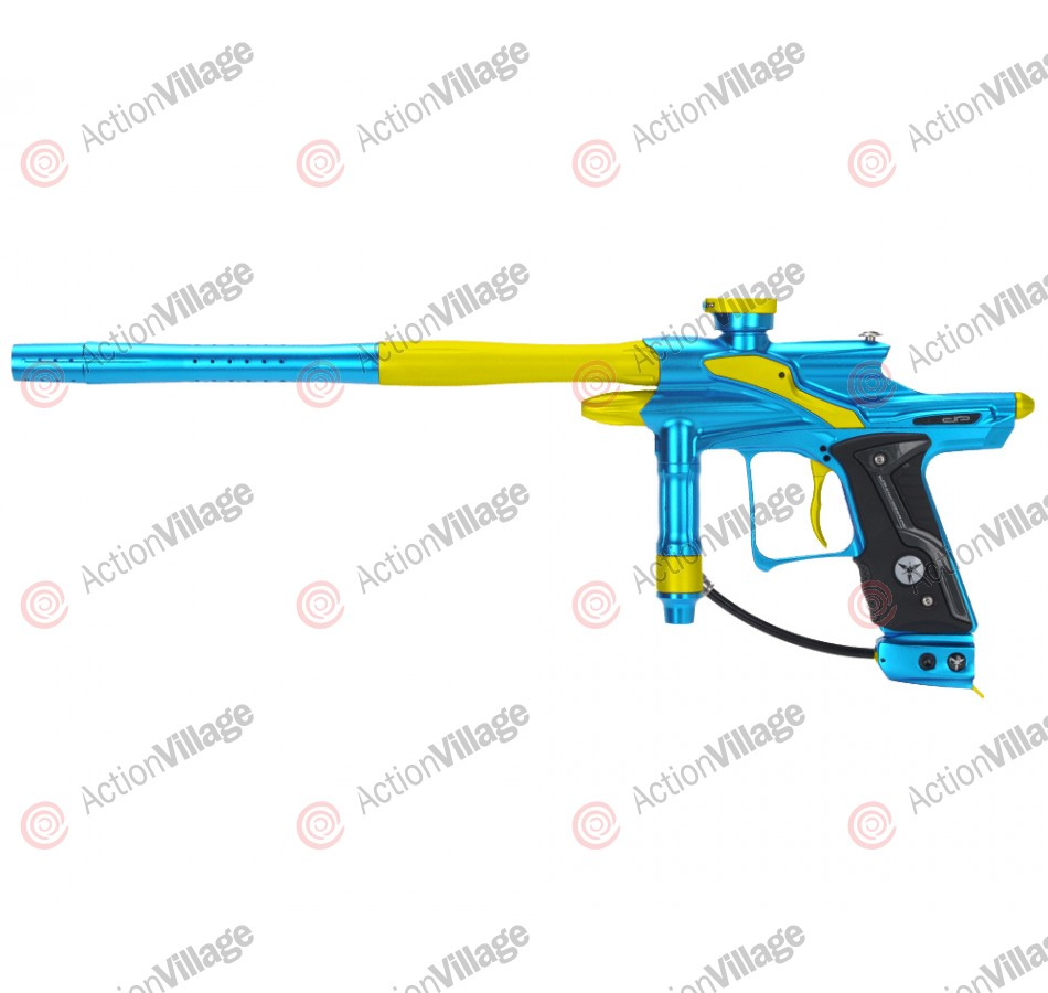 Dangerous Power Fusion FX Paintball Gun - Teal/Yellow