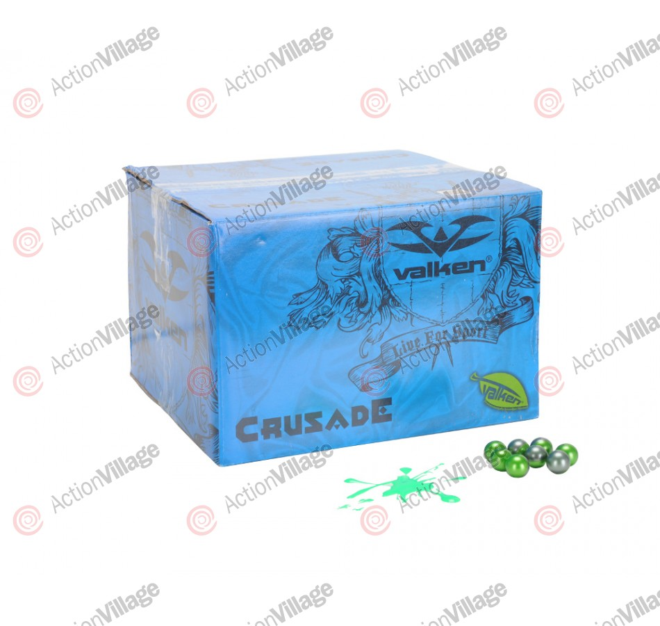 Valken Crusade Paintball Case 1000 Rounds - Green Fill
