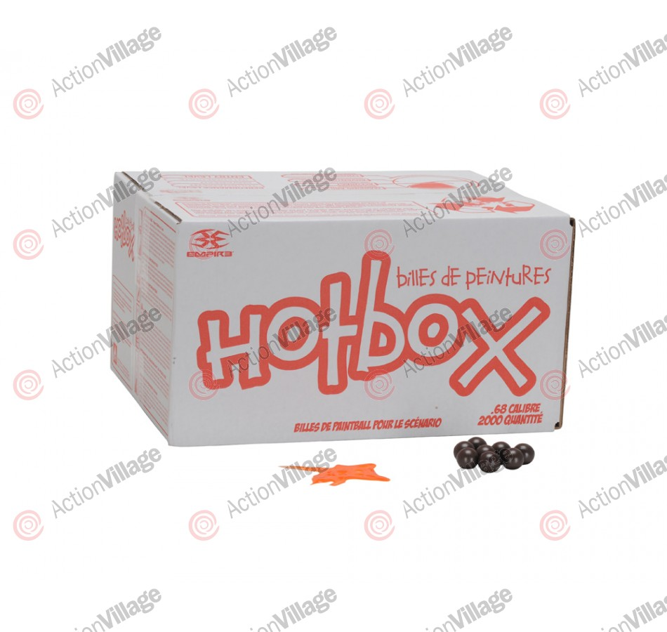 Empire Hotbox Paintballs Case 100 Rounds - Orange Fill
