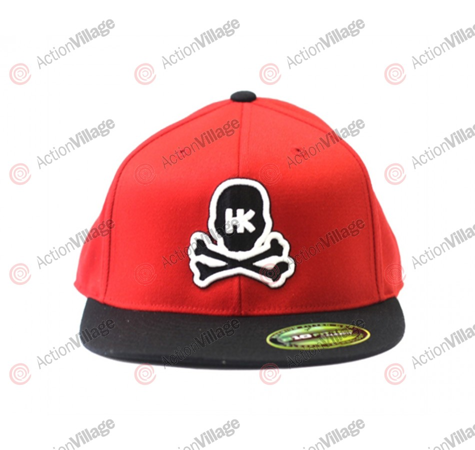 HK Army Flex Fit Skull Hat - Red