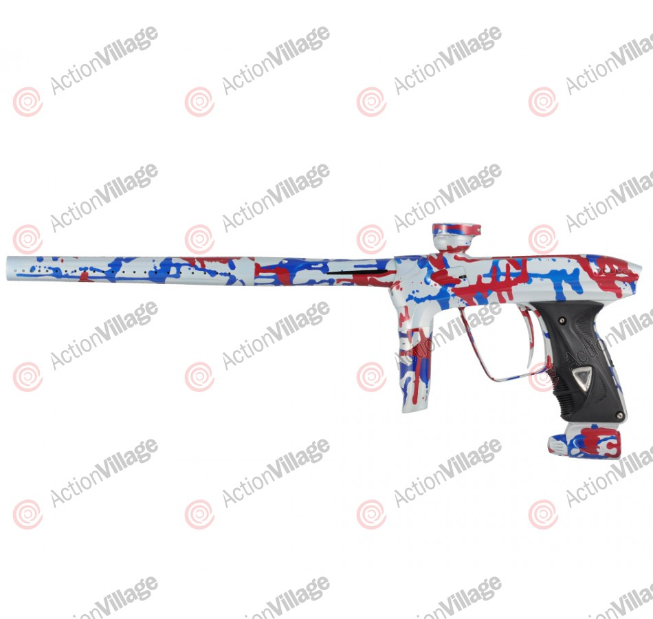 DLX Luxe 2.0 Paintball Gun - Pearl White/Blue/Red Splash