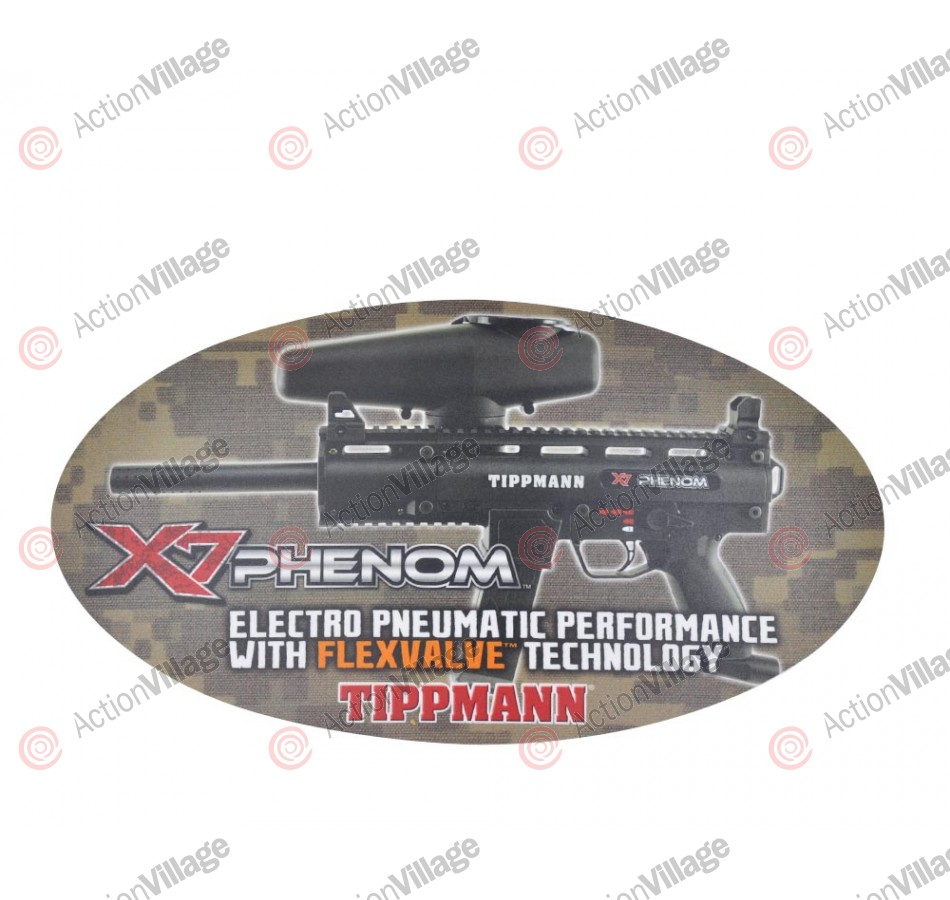 Tippmann X7 Phenom Sticker - 15 1/2