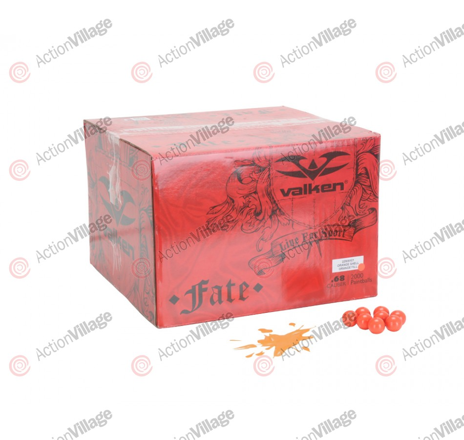 Valken Fate Paintball Case 1000 Rounds - Orange Fill