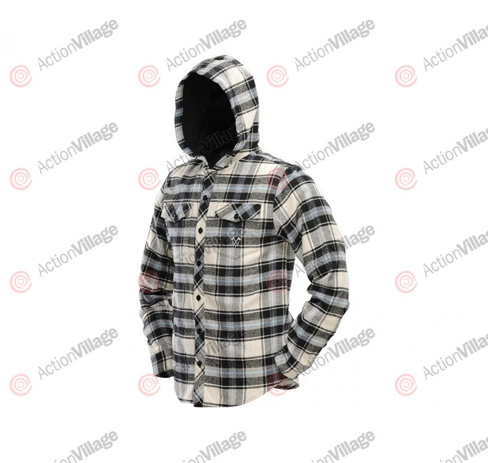 Dye 2013 Flannel Hooded Sweatshirt - Blue/Tan