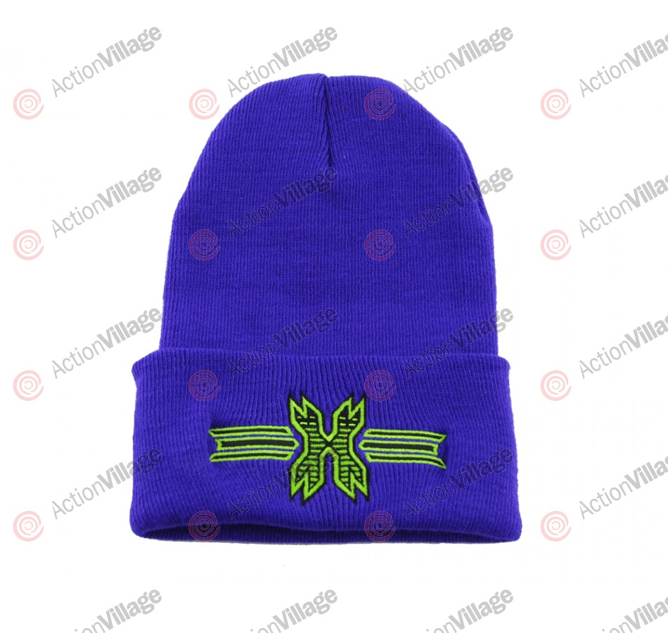 HK Army Icon Beanie - Purple/Lime Stitch