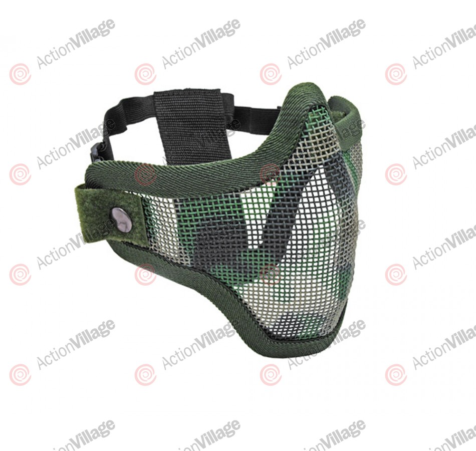 2G Strike Steel Half Airsoft Mask - Jungle Camo
