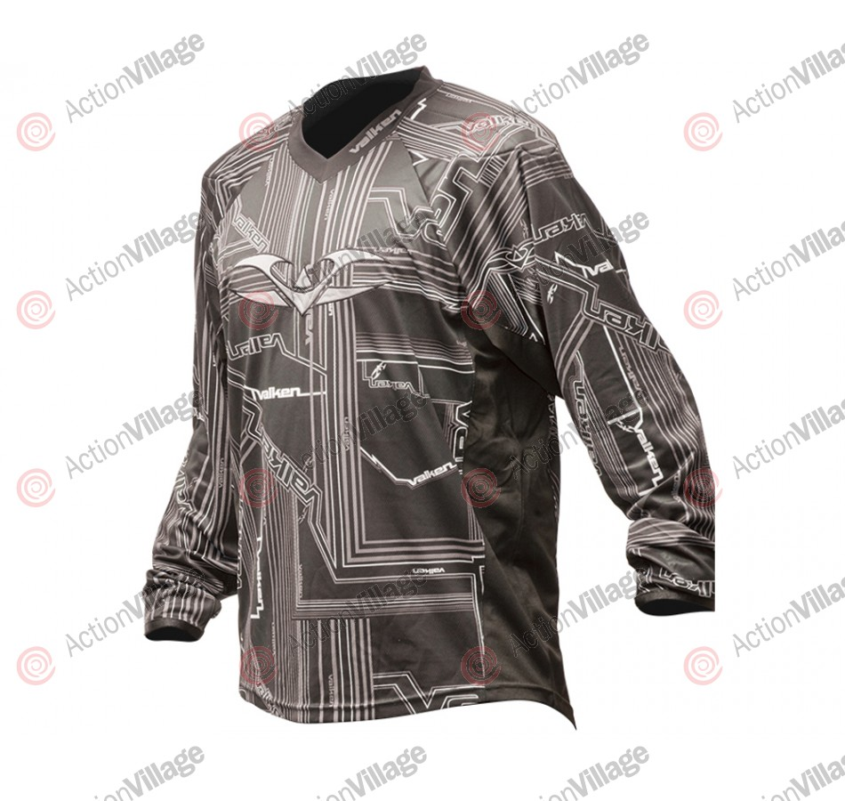 2012 Valken Crusade Paintball Jersey - Tron Grey