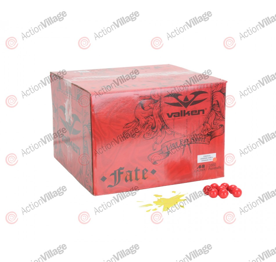 Valken Fate Paintball Case 500 Rounds - Yellow Fill
