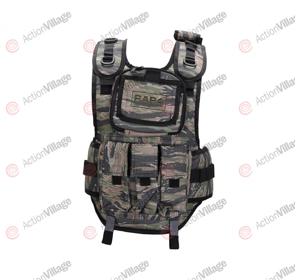 RAP4 Tactical Body Armor Paintball Vest - Tiger Stripe