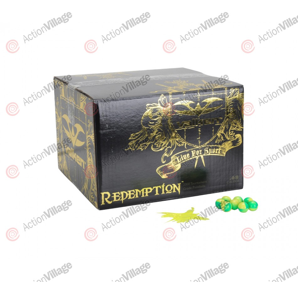 Valken Redemption Paintball Case 2000 Rounds - Yellow Fill