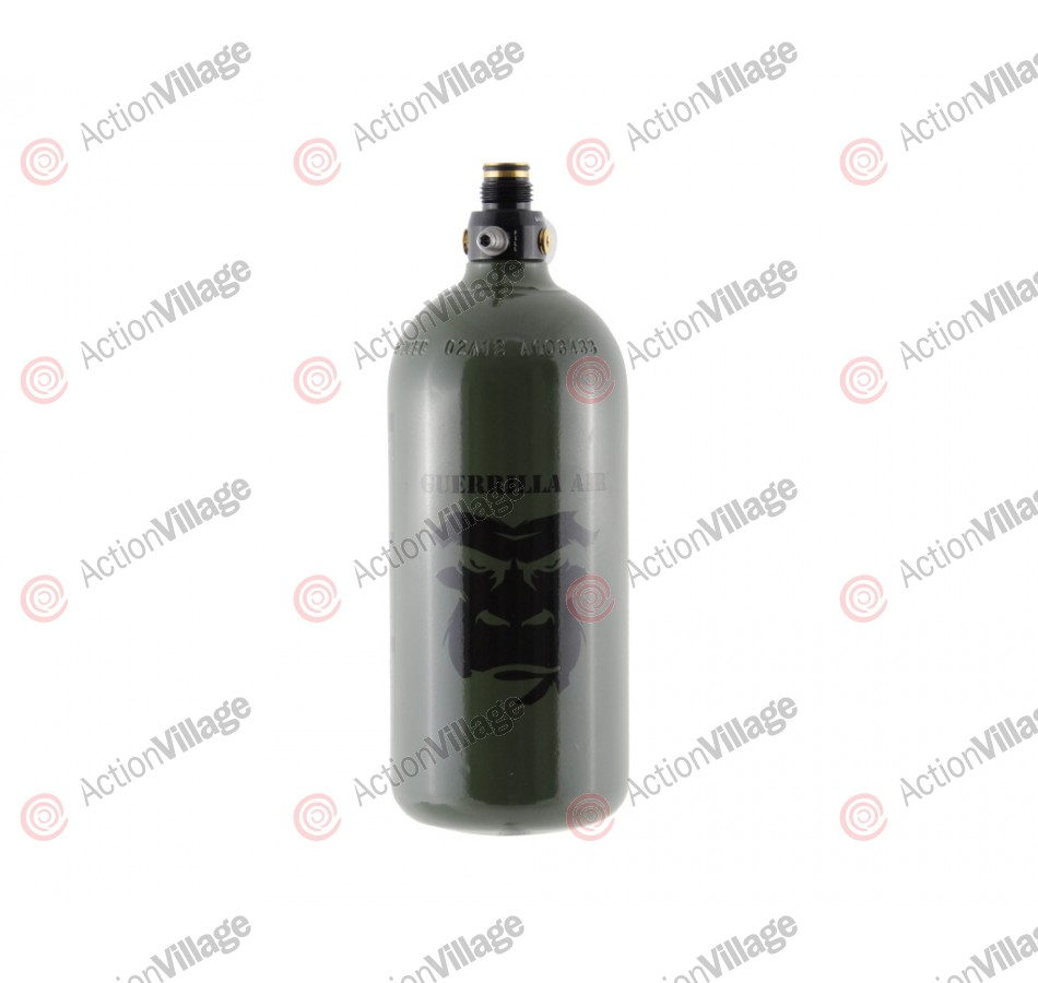 Guerrilla Air Compressed Air Tank W/ Myth Regulator 48/3000 - Olive