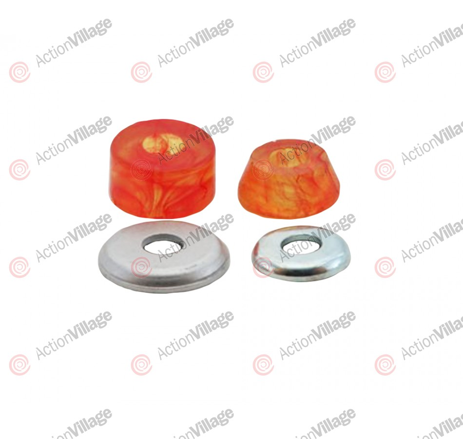 Tracker Trucks Superball - 88a - Orange Swirl - Skateboard Bushings