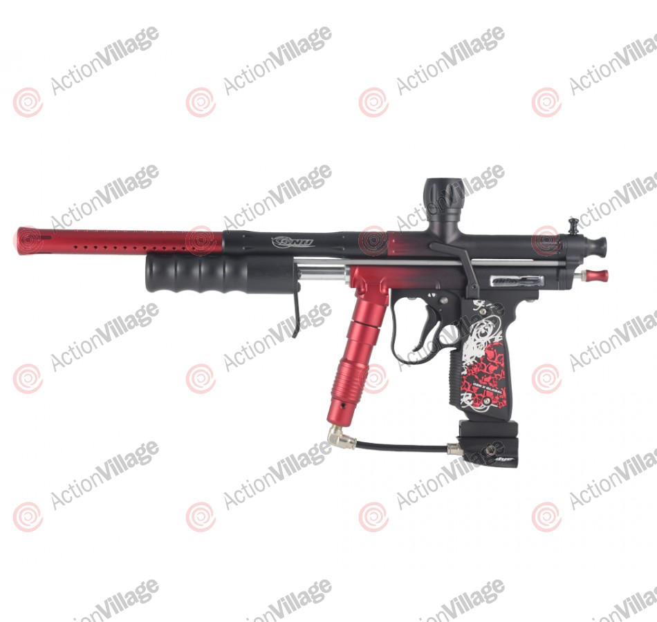 ANS X5 Pump Paintball Gun - Red/Black Fade