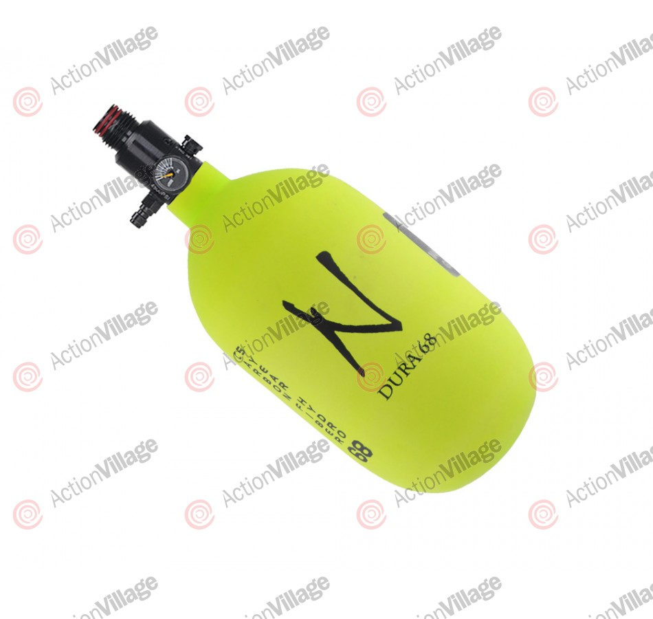 Ninja Dura Carbon Fiber Air Tank w/ Ultralite Regulator - 68/4500 - Lime