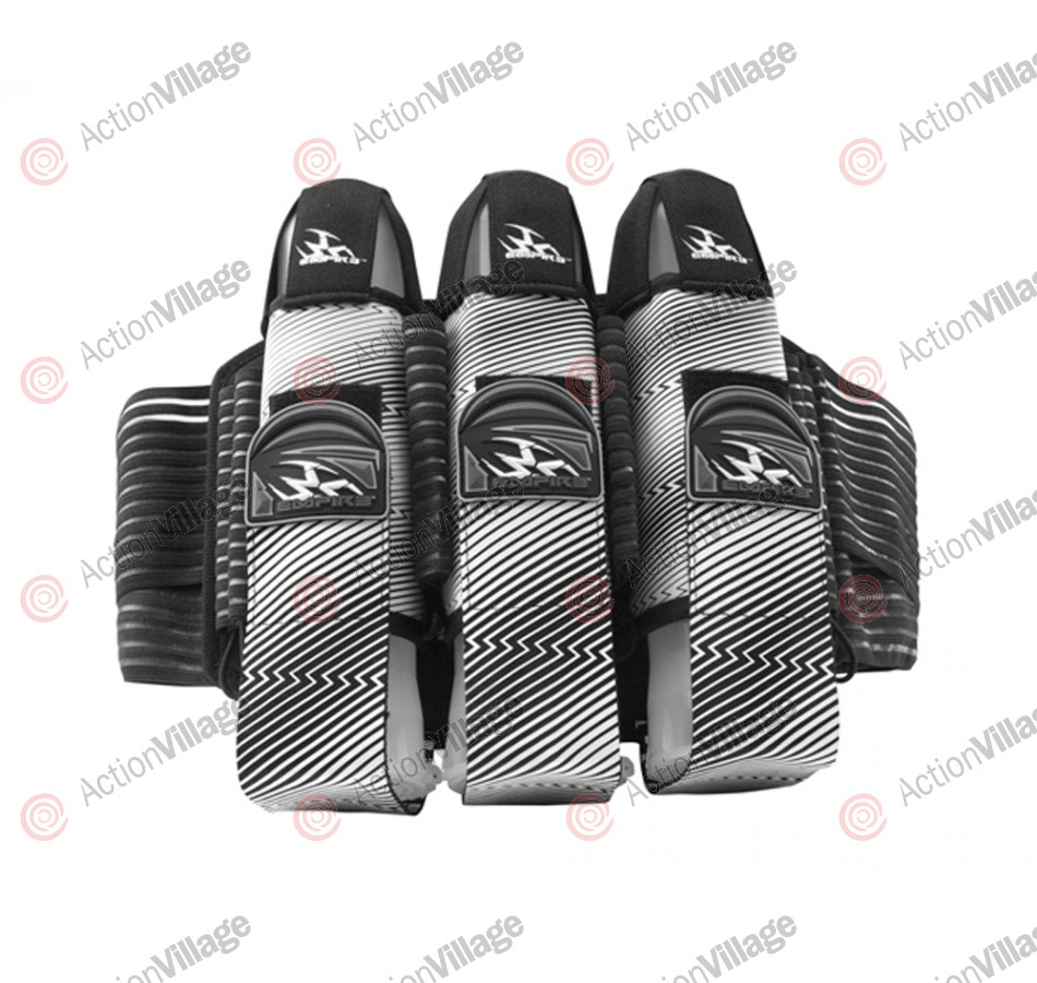 Empire 2012 Liquid Breed Paintball Harness - 3+6 - Black & White ZZ