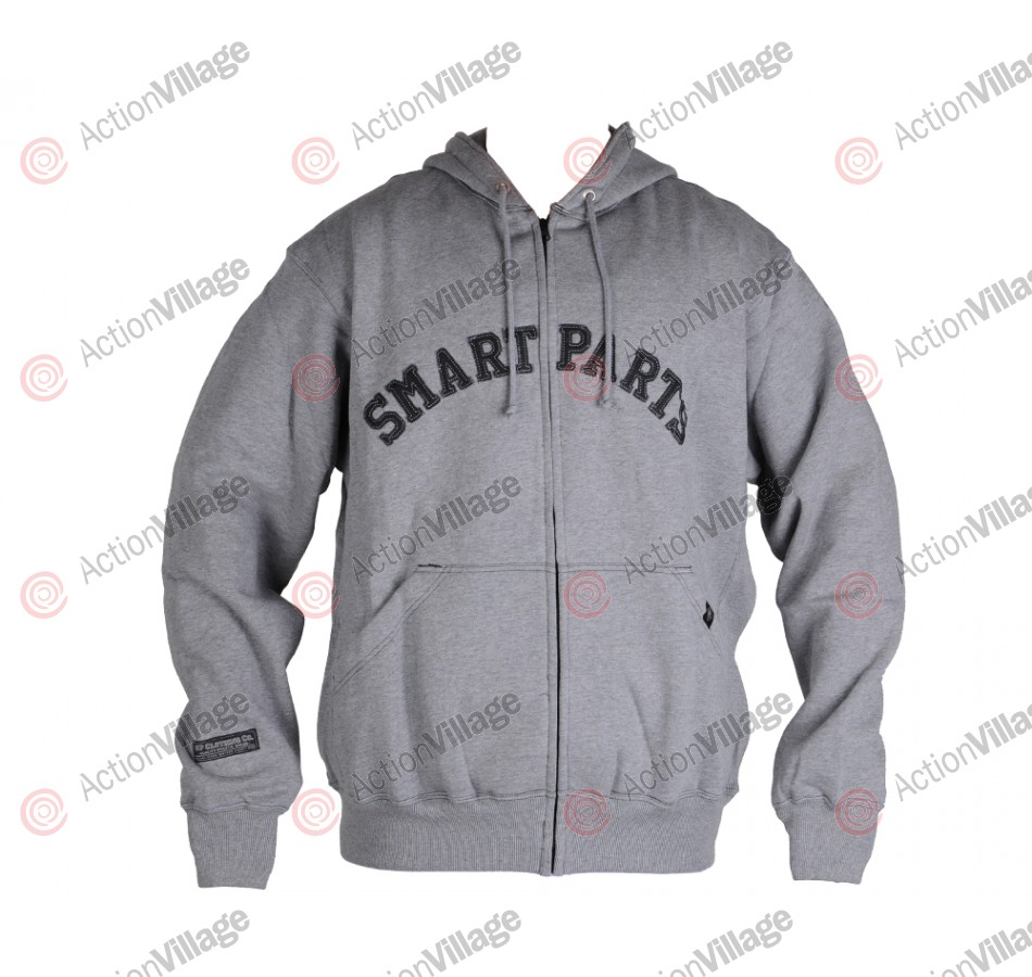 Smart Parts Zip-Up Hoodie Sweatshirt - Grey