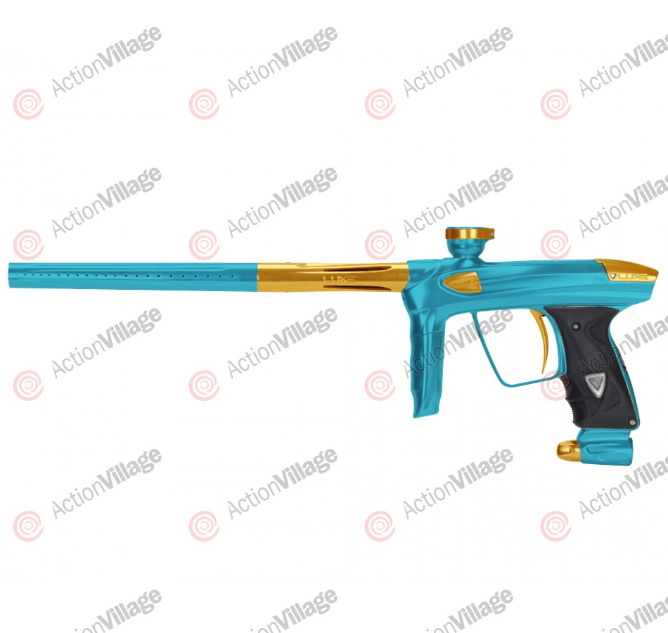DLX Luxe 2.0 Paintball Gun - Teal/Gold