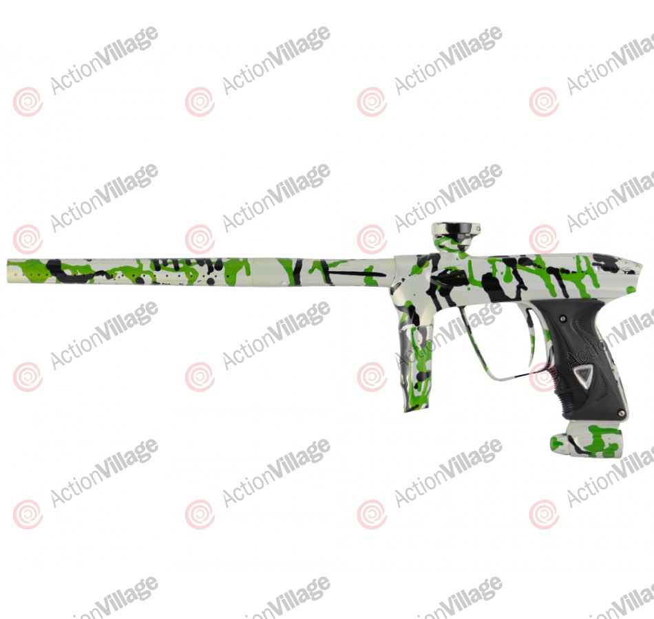 DLX Luxe 2.0 Paintball Gun - Pearl White/Black/Lime Splash