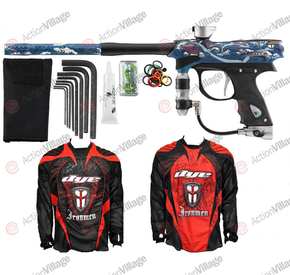 2012 Proto Reflex Rail Paintball Gun w/ Ironmen Jersey - PGA 20K Leagues
