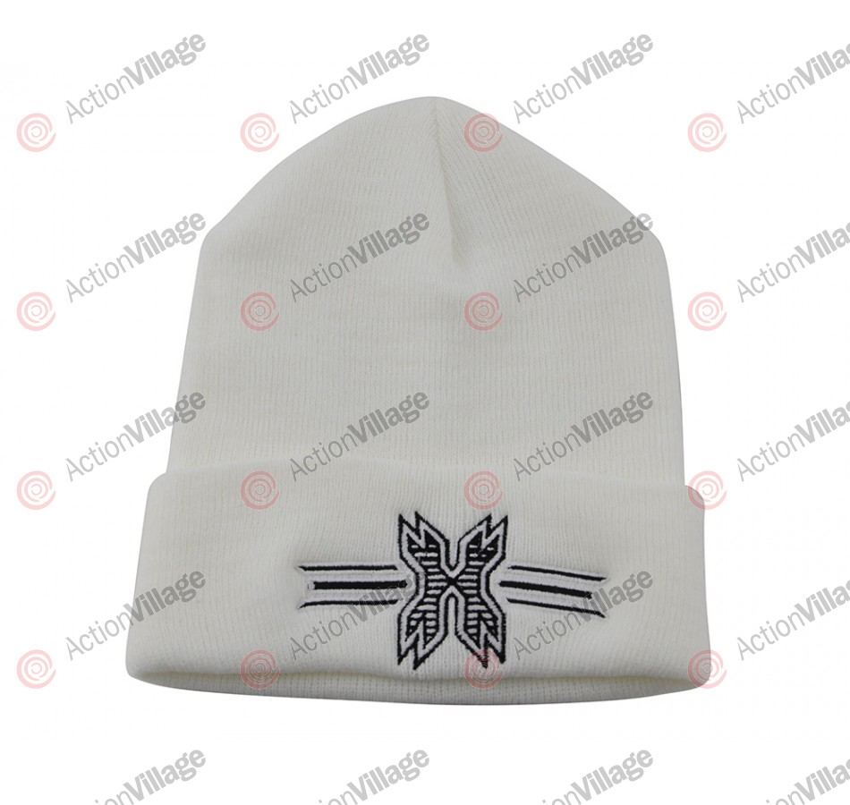 HK Army Icon Beanie - White/Black Stitch