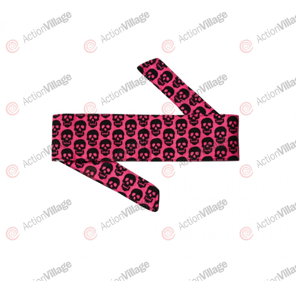 HK Army Headband - Mini Skull Pink